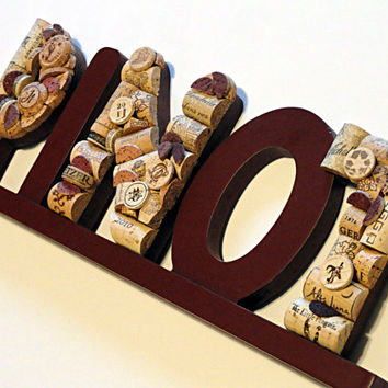 Wine Cork Pinot Sign Wine & Food Wine Cork Art Pino Wine Cork Letters Wall Art
