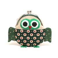 Supermarket: Cute starry green owl clutch purse from Misala Handmade Bags & Purses
