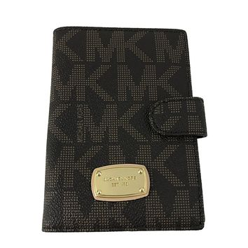 Michael Kors Jet Set Passport Case Holder Signature MK PVC