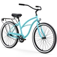 "26"" sixthreezero Women's Around the Block Single Speed Beach Cruiser Bicycle, Coral - Walmart.com"