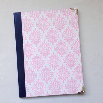 Pink Damask Floral Notebook- Conposition Book