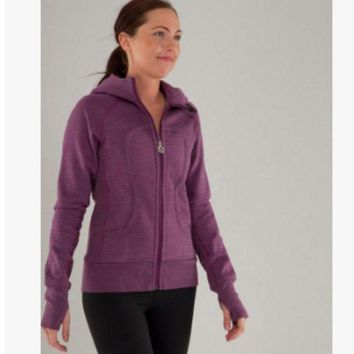 DCCKU3N lululemon' Scuba Hoodie jog run yoga workout clothes style fashion Purple