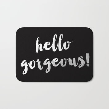 Hello Gorgeous! Bath Mat by All Is One