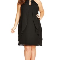 Plus Size Drape Divinity Dress - City Chic