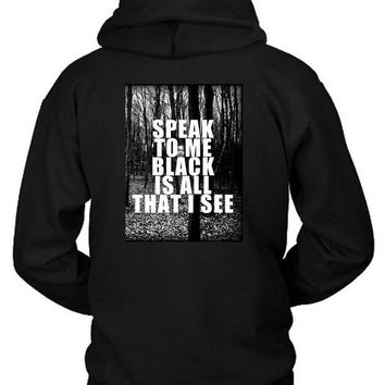 MDIGGW7 Asking Alexandria The Black Lyrics Speak Forest Hoodie Two Sided