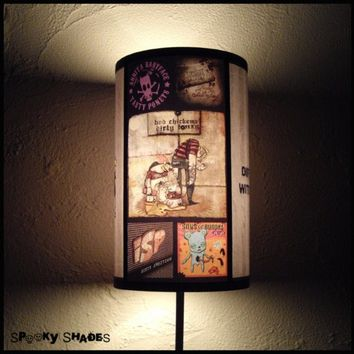 Punk Rock Lamp Shade Lampshade - rock n roll decor, punk rock decor, musician gift, teen room decor