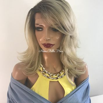 Blond fringe lace front hair wig | Renee 418 15