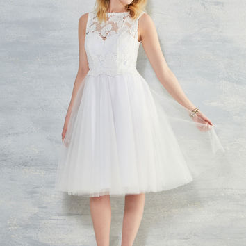 I Now Pronounce You Posh Dress in White | Mod Retro Vintage Dresses | ModCloth.com