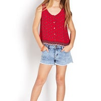 FOREVER 21 GIRLS Folk Girl Floral Top (Kids)