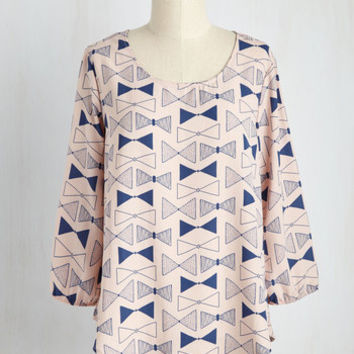 Whatever Flows Your Bows Top | Mod Retro Vintage Short Sleeve Shirts | ModCloth.com