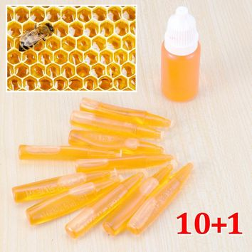 Beekeeping Hive Attractant Lures Honey Bee Swarm 10 X 2ml Bee Swarm Attractant Lure 1 X 10ml New Lure Farm Tools Accessories