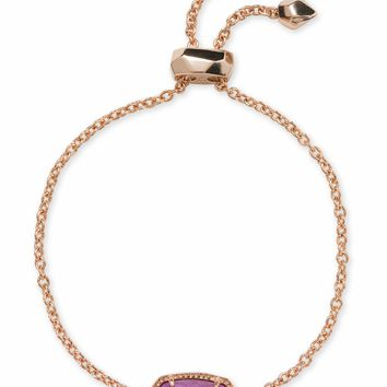 Kendra Scott: Elaina Rose Gold Chain Bracelet In Lilac Mother Of Pearl