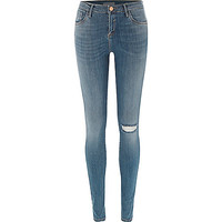 Mid wash ripped knee Amelie superskinny jeans - skinny jeans - jeans - women