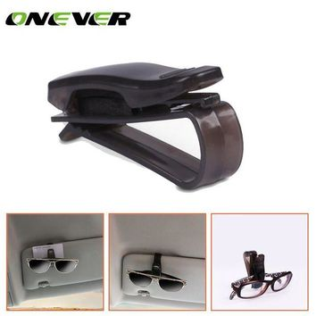 ONETOW 1Pcs Glasses Case For Unviersal Car Vehicle Sun Visor Sunglasses Eyeglasses Glasses Ticket Holder Clip