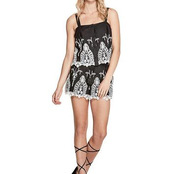 Genevive Embroidered Top at Guess
