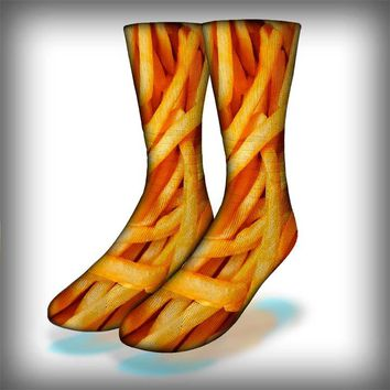 French Fries Crew Socks Novelty Streetwear