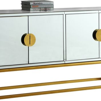 Marbella Mirrored Sideboard / Buffet Gold Stainless Steel