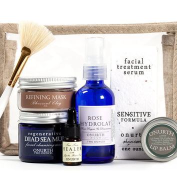 Sensitive Skin Facial Kit, Facial Care Set, Soothing Facial Gift Set, Facial Travel Set, Aromatherapy Facial Pouch Set, Facial Calming Kit