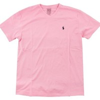 Polo Ralph Lauren Men's V-Neck T-Shirt (Large, Carmel Pink)