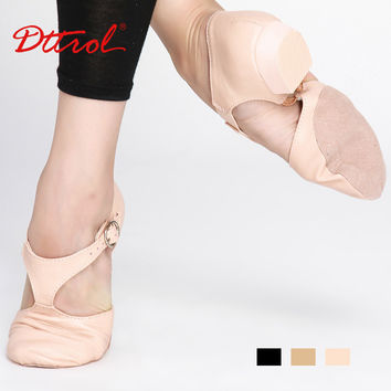 Hot sale genuine leather jazz dance sandal shoes for child adult Teachers Professional sandals shoes jazz dance shoes China 5353