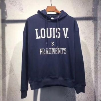 Fragment Design x Louis Vuitton Casual Hooded Long Sleeve Top Sweater Hoodie