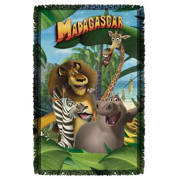Madagascar Jungle Time Woven Throw Blanket