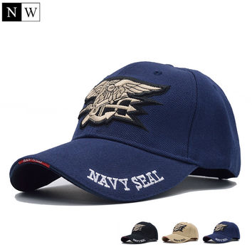 High Quality Mens US NAVY Baseball Cap Outdoor Navy Seals Cap Tactical Army Cap Trucker Gorras Snapback Hat For Adult