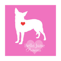 Chihuahua Gift, Custom Art Print with Pets Name and Nickname - 8x10 Custom Made, You Choose Colors - Pet Memorial Gift, Dog, Fur Babies