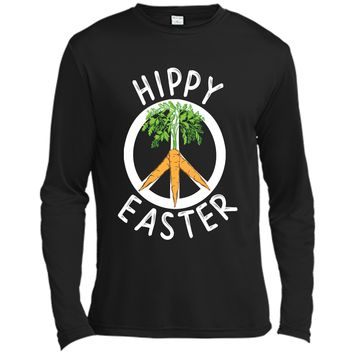 Funny Hippy Easter T-shirt Boho Peace and Carrots Gift Shirt Long Sleeve Moisture Absorbing Shirt