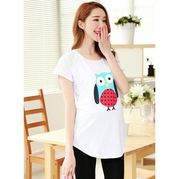100 Cotton Shirts Women Breast Feeding Clothes Tops For Pregnant Ladies Clothes for Nursing Funny Pregnancy T shirts
