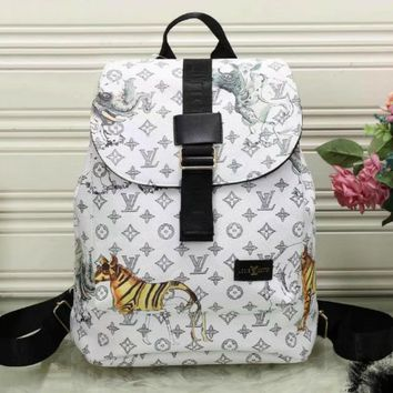 Louis Vuitton Animal Fashion Shoulder Bag Bookbag Backpack Daypack