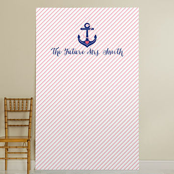 Personalized Photo Booth Backdrop - Kate's Nautical Bridal Collection - Anchor