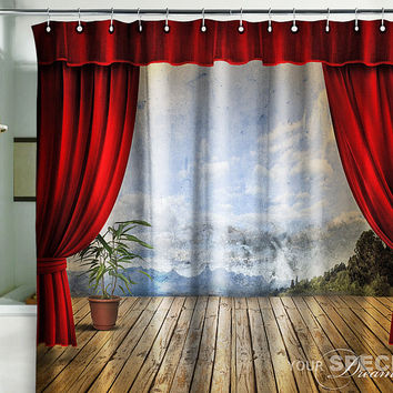 Bath Shower Curtain stage 3D theatre