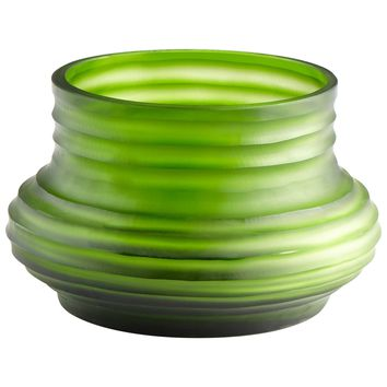 Small Leo Pistachio Green Art Glass Vase by Cyan Design