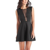 Fit-and-Flare Scuba Dress at Guess