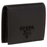Prada Monochromatic Logo Saffiano Leather Wallet | Nordstrom