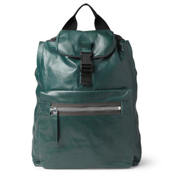 Lanvin Green Leather Backpack