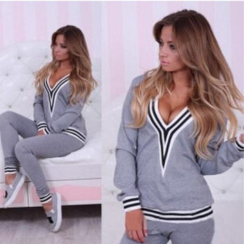 Hot Sale Hoodies Women's Fashion Sportswear Set [4962042244]