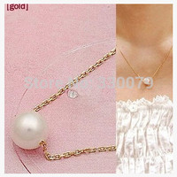 N134 Hot Selling Style Fashion Cheap Super Sweet imitation Pearl Ball Droplets Pendants necklaces Jewelry Accessories For Women
