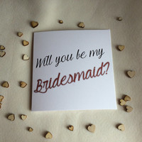 Bridesmaid Card, Wedding Invite Card, Will you Be My Card
