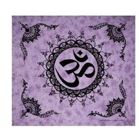 "Wonder Wall ~ Om ~ Giant Tapestry Bedspread ~ 90"" x 100"""