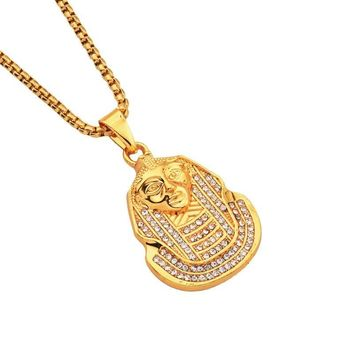 New Arrival Gift Stylish Shiny Jewelry Alloy Face Mask Necklace [10768843203]