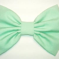 mint green adult, teen or child hair bow
