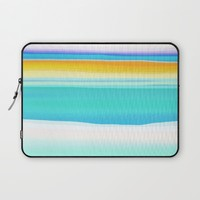 The Arctic Sea Abstract 2 Laptop Sleeve by Jen Warmuth Art And Design