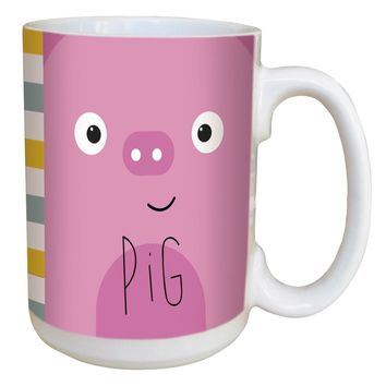 Pig Animoji Mug - Large 15 oz Ceramic Coffee Mug