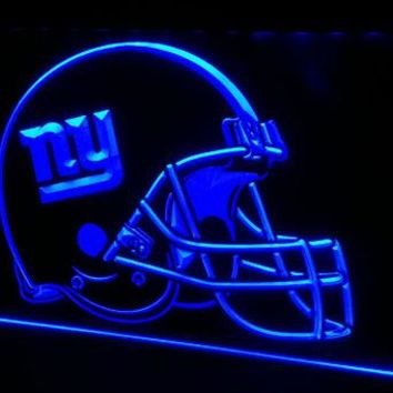 LS411-b-NY New York Giants Helmet Pub 3D LED Neon Light Sign Customize on Demand 8 colors to choose