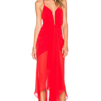 Shona Joy The Conquest Waterfall Dress in Red