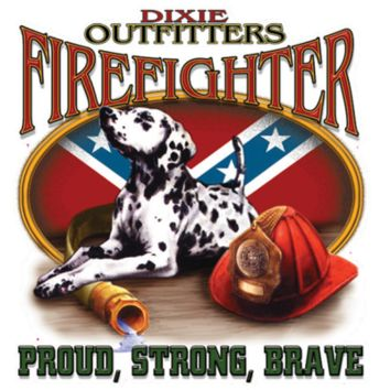 Dixie Outfitter Firefighter - Square Sticker