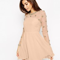 ASOS PETITE Exclusive Princess Cluster Mini Dress