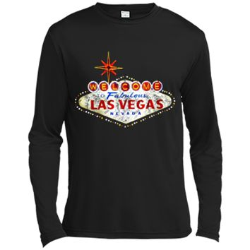 Welcome to Las Vegas Nevada Vintage Sign Souvenir T-Shirt Long Sleeve Moisture Absorbing Shirt